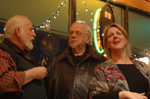 Bob Pond, theatre director extraordinaire, with Brian Saylor and Teresa Pond, 2.7.14, Modern Dwellers, Anchorage, Alaska